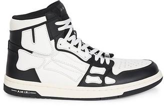Amiri Skeleton High-Top Leather Sneakers