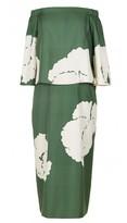 Tibi Amara Print Off-the-Shoulder Dress