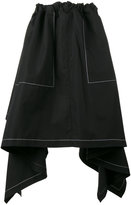 J.W.Anderson draped asymmetric skirt - women - Cotton - 6
