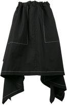 J.W.Anderson draped asymmetric skirt - women - Cotton - 8