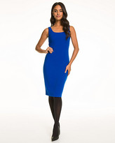 Le Château Double Weave Scoop Neck Shift Dress