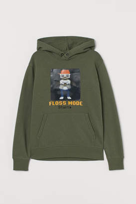 H&M Hooded top with appliques