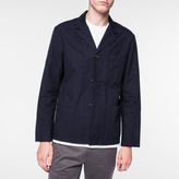 Paul Smith Men's Navy Cotton Three-Button Patch-Pocket Jacket