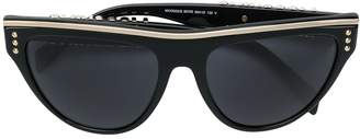 Moschino Silver Trimmed Flat Top Cat-Eye Sunglassess