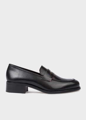 Paul Smith Women's Black Leather 'Wolf' Penny Loafers