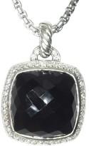 David Yurman Albion 925 Sterling Silver with Onyx and Diamond Enhancer Pendant