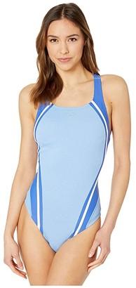Speedo Rib Quantum Splice One-Piece (Robbia Blue) Women's Swimsuits One Piece