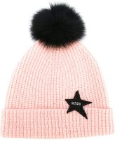 MSGM pom detail knitted hat