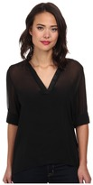 Christin Michaels Sophie Blouse with Roll Sleeves