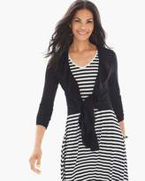 Chico's Solid Ruffle Cardigan