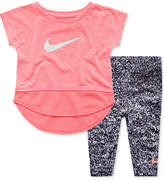 Nike 2-Pc. Graphic-Print T-Shirt & Leggings Set, Little Girls