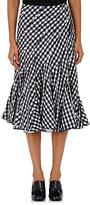 Comme des Garcons Women's Gingham Seersucker Knee-Length Skirt-NAVY