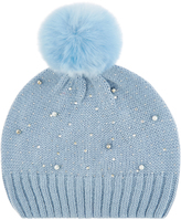 Monsoon Sparkle Bead Pom Pom Beanie