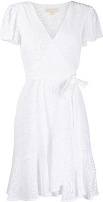 MICHAEL Michael Kors Lace Wrap Mini Dress