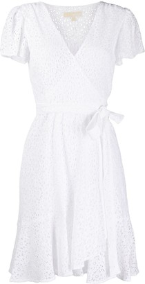 MICHAEL Michael Kors lace wrap mini dress