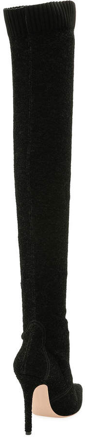 Gianvito Rossi Fiona Knit Over-the-Knee Boot
