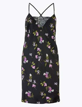 Rosie For AutographMarks and Spencer Rosie Satin Floral Print Short Chemise