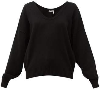 See by Chloe Scoop-neck Wool-blend Sweater - Womens - Black