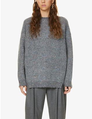 Stella McCartney Sequin-embellished oversized knitted jumper