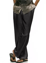 Cubavera Solid Linen-Blend Drawstring Pants