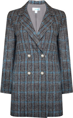 Jovonna London Blue Check Tala Tweed Jacket - extra small