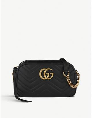 Gucci Women's Black Marmont Matelasse Leather Shoulder Bag