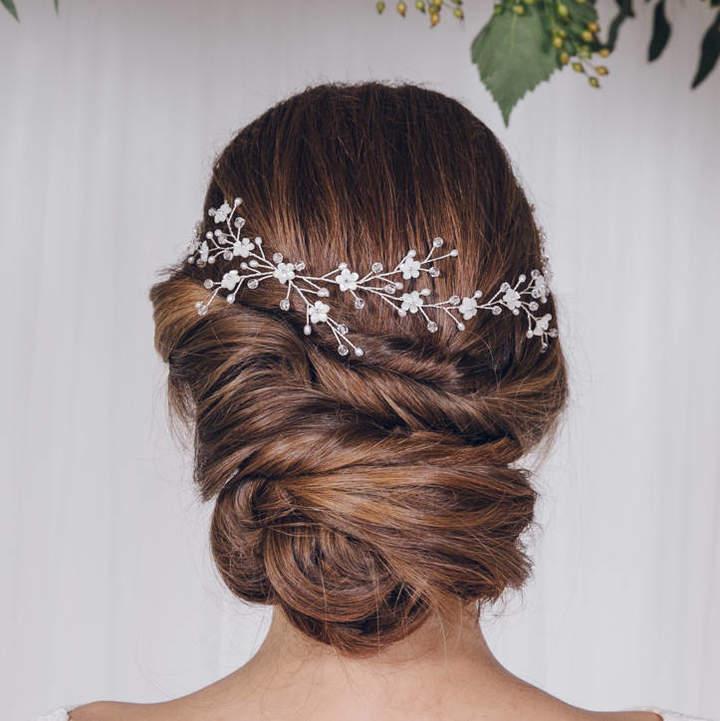 Carlisle Debbie Rose Gold, Silver Or Gold Flower Crown Wedding Circlet