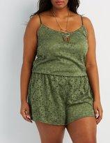 Charlotte Russe Plus Size Lace Romper