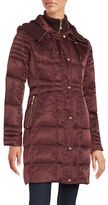 Vince Camuto Hooded Mid Length Puffer Coat