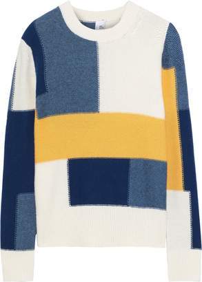 Iris & Ink Thora Color-block Intarsia-knit Sweater