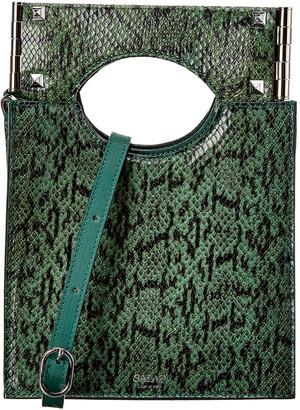 Salar Milano Arya Snake-Embossed Leather Shoulder Bag