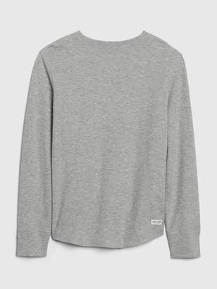 Gap Kids Waffle-Knit Slub Shirt