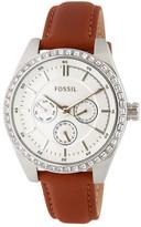 Fossil Women's Caressa Leather Strap Watch