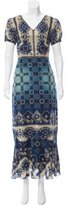 Anna Sui Silk-Blend Maxi Dress