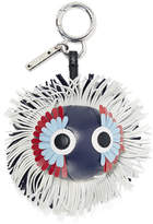 Fendi Leather Bag Charm - Storm blue