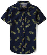 First Wave Big Boys 8-20 Pineapple-Print Button-Down Shirt