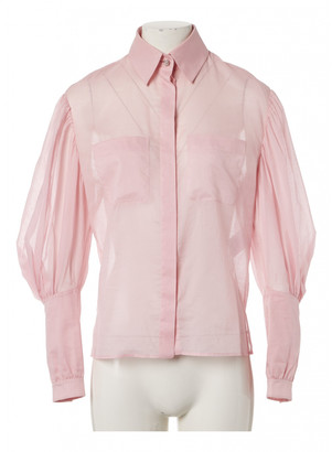 Chanel Pink Cotton Tops