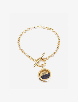 Rachel Jackson Sunburst 22ct gold-plated vermeil and amethyst bracelet