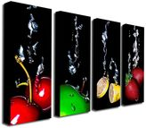 "KitchenArt ""Splash"" 4-pc. Wall Art Set by Roderick Stevens"