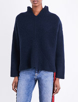Pringle Textured cashmere and wool-blend jumper