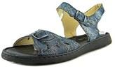 La Plume Trace Women Open-toe Leather Blue Slingback Sandal.