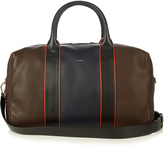 Paul Smith Colour-block leather piped holdall
