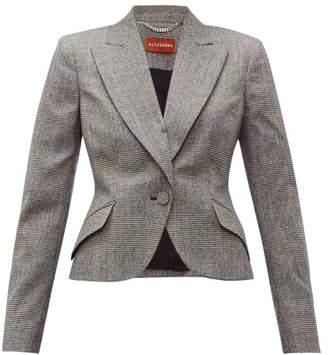 Altuzarra Kershaw Prince Of Wales Checked Wool Blend Blazer - Womens - Black White