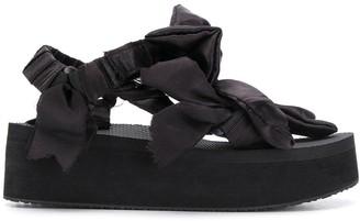 Arizona Love Bow-Embellished Platform Sandals