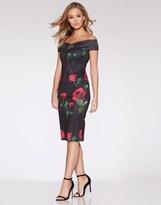 Quiz Scuba Bardot Bodycon Dress