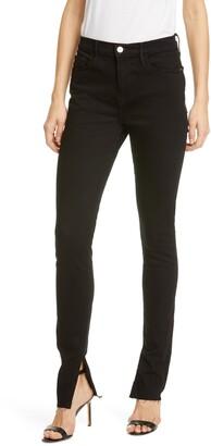 Frame Le Skinny de Jeanne Side Slit Skinny Jeans