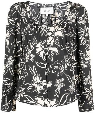 BA&SH Sessee floral-print blouse