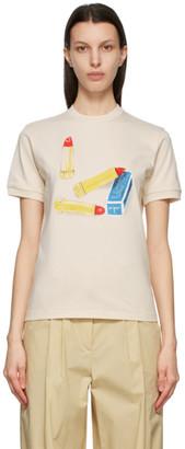 Lanvin Off-White Scented Lipstick T-Shirt