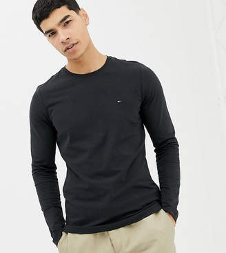 Tommy Hilfiger icon flag logo long sleeve top in black Exclusive at ASOS