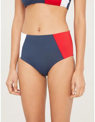 Tommy Hilfiger Colour-block high-rise bikini bottoms